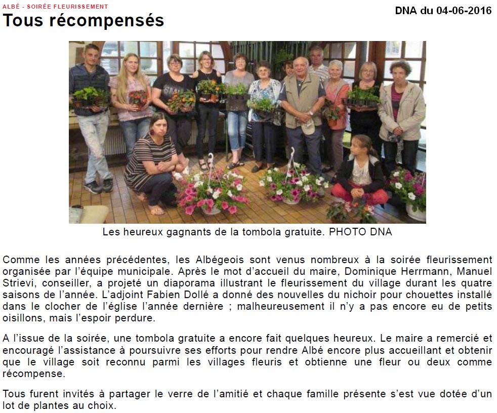 Maisons fleuries 2016 - Albé